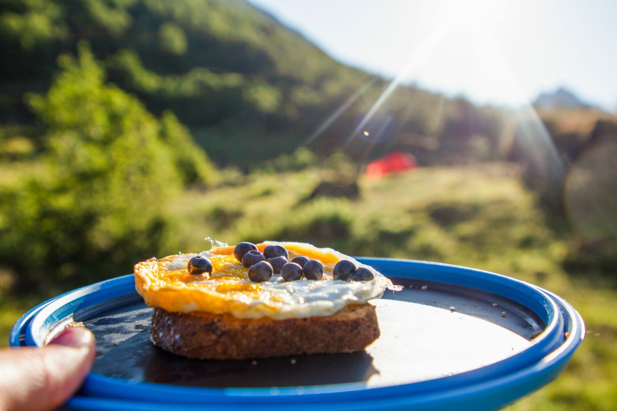 Snakk om luksus å få sjølvplukka blåbær til frukost.