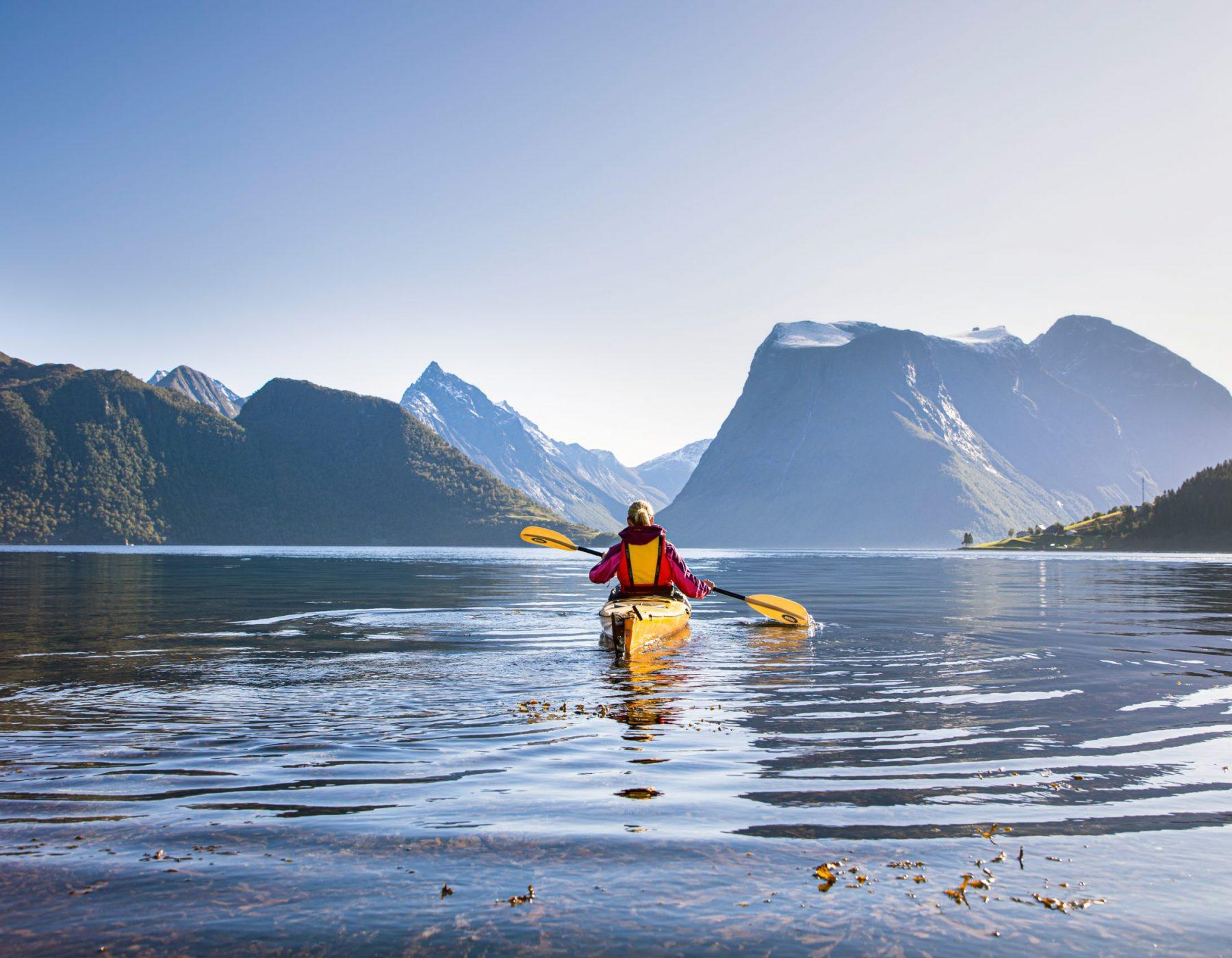 Hjørundfjorden, teke frå frå Sæbø i Ørsta kommune.
